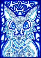 ACEO: Blue Sanctuary by lutamesta