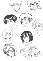 Aot characters by Kakty