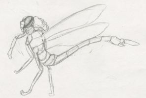 Anthropomorphic Dragon Fly Take 2 by Lucern7