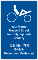 Recumbent Style Business Card by CmdrKerner