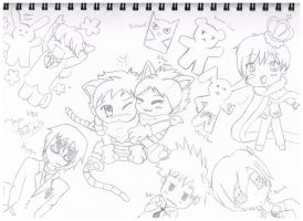 Ouran Chibis by Blue-eyed-girl-23