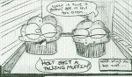 Muffins telling jokes by Unit6