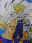 Dragon ball Z drawing by RohnnyFive