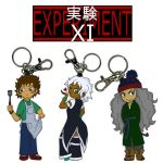 Experiment XI keychains by persephone-the-fish