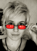 red glasses by Lucy-Redgrave