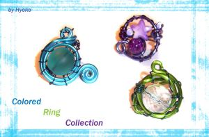 Colored Ring Collection by Hyo-pon