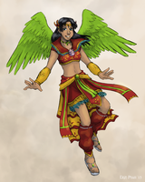 Commission - Sailor Garuda by ErinPtah