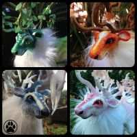 Four seasons caribou soft sculpture art dolls! by CreaturesofNat