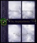 Winter - Premade backgrounds by AngeliaStocks
