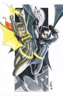 Batman and Batgirl by JazzRy