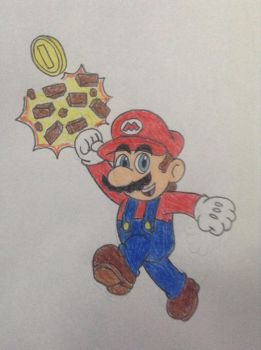 A Quick Mario Drawing by AleMon1097
