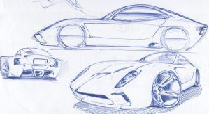 Car sketch by McNomad