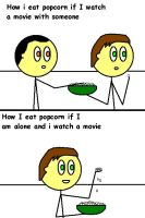How i eat popcorn during a movie by TheAdamBryant