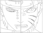 naruto vs pain lineart by Lulumgreat