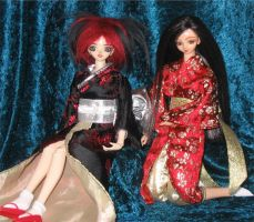 Kyle and Dana in Kimonos 2 by prettysewingmachine