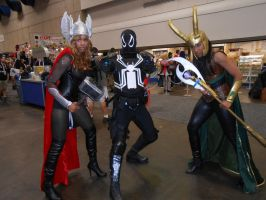 Thor, Agent Venom and Loki by pa68