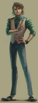 Training for drawing Kotetsu's whole body by narcissusid