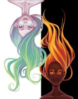 Fire and Water by chlorinesea