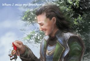 'When I miss my brother...'~Loki~ by Athena-Erocith