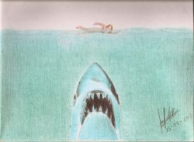 Jaws in Color Pencil by MuDDiTToX