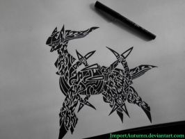 ARCEUS - Tribal Pokemon Tattoo [Youtube Video] by ImportAutumn