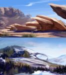 Landscape sketches by AppleSin