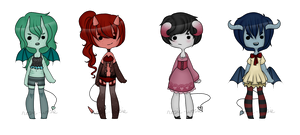 Adopt Set 9 - Demon Girls - CLOSED by rosie-wosie