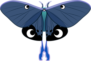 Princess Luna Moth by MountainLygon