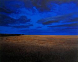 August Twilight over the Strand Field by eastcorkpainter
