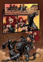 Red Sonja 73 Page 16 Colors by likwidlead