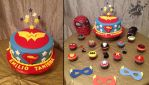 Super Man  and Wonder Woman cake by SamuelDesigns