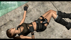 Lara Croft - Unconscious 4 by Schizophreak3D
