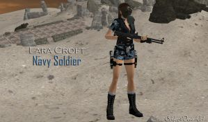 Navy Soldier Lara Croft (Re-updated 3 XPS) by bstylez