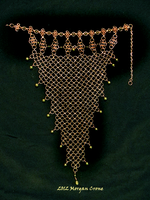 Bronze and Pearl Chainmaille Necklace by MorganCrone