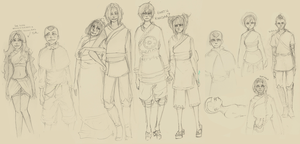 The Last Airbender - sketches by roolph