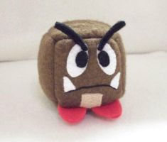 Goomba Cube Plushie by Cube-lees