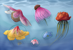 Flower Jellyfish Adoptables (OPEN) by ShoeSoup