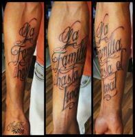 Lettering by CAMOSartTATTOO