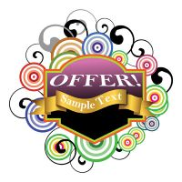 Offer Text Banner by 123freevectors