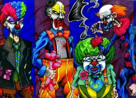 Icky Clowns by DeflatingReality