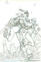 Flash 47 Harley Quinn Cover Pencil by TerryDodson
