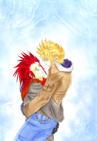 Old1-Roxas and Axel Winter by KaikaKaze