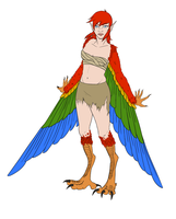 Naughty the Harpy [WIP] by turtleskates