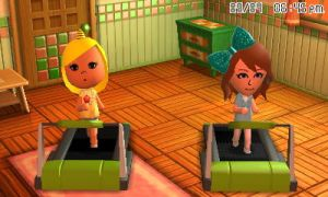Lizbeth and Jenna F on the treadmill by GWizard777