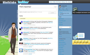 Twitter design by Ninthjake