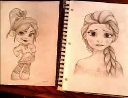 Elsa and Vanellope by Kaitlin73