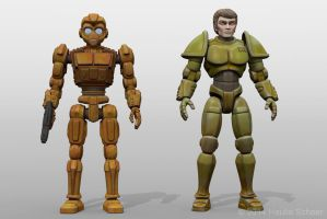 Robots vs Androids Main Characters B by hauke3000