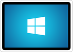 Windows 8 Tablet Style Computer Icon by mehhbud