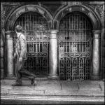 Man Walking in Dublin by existentialdefiance