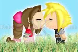 Cloud and Aerith by Kaka-Extreme